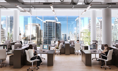 picture of an office interior
